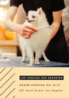 GRAND OPENING ON 10.21<BR>231 Saint Street, Los Angeles Dog Flyer
