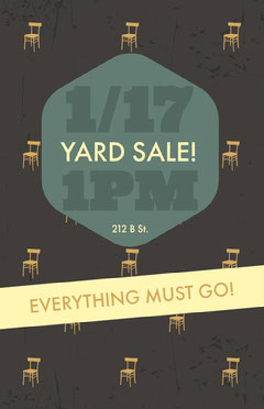 Warm Earthy Tones Yard Sale Event Flyer Yard Sale Flyer