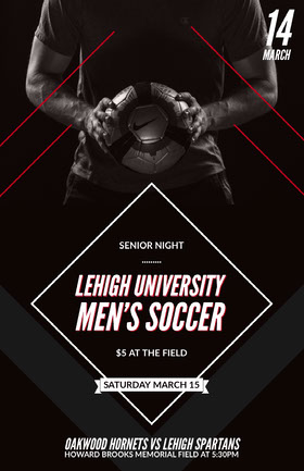Lehigh University Men's Soccer Folleto de invitación a evento