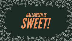 Orange and Black Candy Halloween Party Gift Tag Halloween Gift Tag