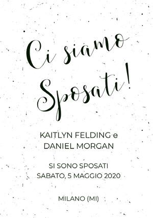 black and white textured wedding announcements  Annunci di matrimonio