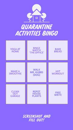 bingo instagram story Bingo-Vorlagen für die Quarantäne