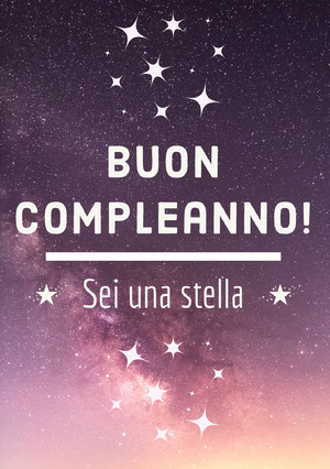 you're a star birthday cards Biglietto di compleanno