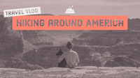 Hiking around America Youtube Channel Art