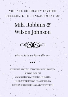 Mila Robbins &  Wilson Johnson  Purple