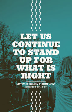 Blue Stand Up Human Rights Poster Seasonal