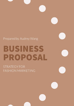 Brown and White Business Proposal Marketing