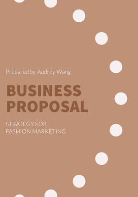 Brown and White Business Proposal 提案報告
