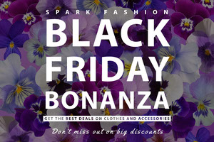 Violet and White Black Friday Bonanza Social Post Black Friday
