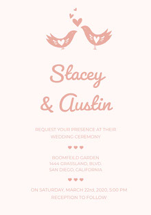 Stacey & Austin  Wedding Cards