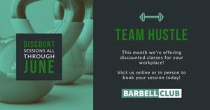 Blue and Green Team Hustle Facebook Cover Portada de Facebook