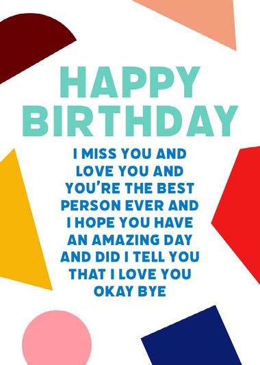 Happy Birthday Geometric Shapes COVID-19-Geburtstagskarten
