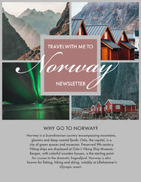 Norway Travel and Tourism Newsletter with Collage Newsletter Examples