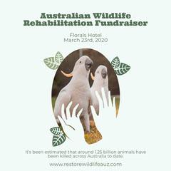 Green with Oval Leaf Frames Australia Wildlife Fund Instagram square Fundraiser