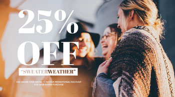 Warm Toned Sweather Sale Ad Twitter Banner Twitter Image Size