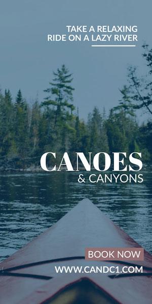 CANOES Flyer de anúncio