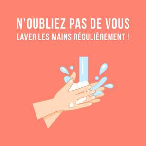 Red Wash Your Hands Instagram Square Affiche Lavez-vous les mains