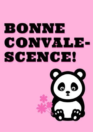 panda get well soon cards  Carte de bon rétablissement