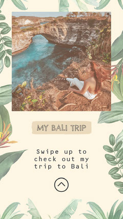 Green Leafs My Bali Trip Instagram Story Holiday