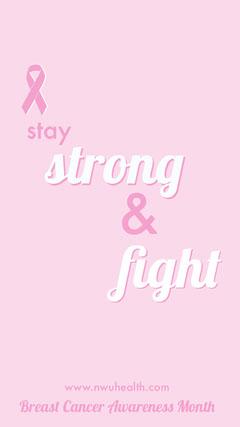 Pink Breast Cancer Awareness Month Instagram Story Flyer Awareness