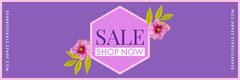 Violet and Pink Sale Banner Promotion
