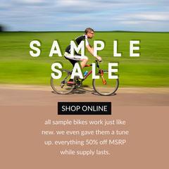 Light Color Toned Sample Sale Instagram Post Ad Bike