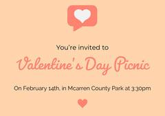 Orange Social Icons Valentine Invitation Picnic Flyer