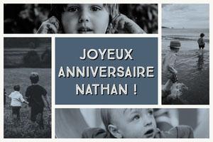 JOYEUX ANNIVERSAIRE NATHAN ! Montage photo d'anniversaire