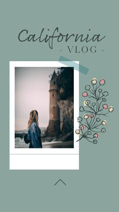 California Vlog Instagram Story Flowers