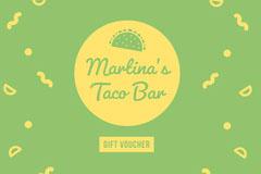 Martina's <BR>Taco Bar Green