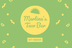 Green and Yellow Mexican Restaurant Gift Voucher Coupon Kupon