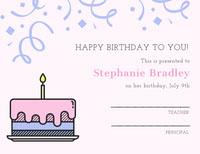 Stephanie Bradley  Birthday
