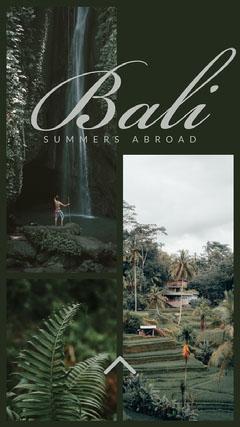 Bali Instagram story Vacation