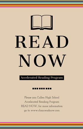 Beige Accelerated Reading Program School Event Flyer Veranstaltungs-Flyer