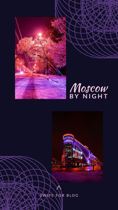 Moscow at night igstory Neon