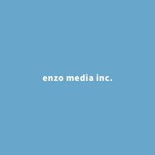 Blue and White Typographic Company Logo Logo