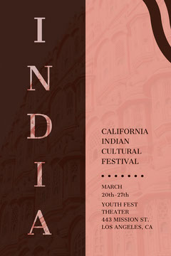 Indian cultural festival advertisement  Brown