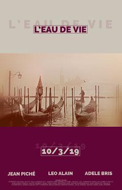 Retro Movie Poster with Gondolas in Venice Italy