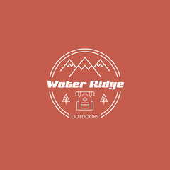 red white outdoor activities shop logo square  Shopping