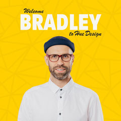 Yellow Pattern Welcome Bradley Hue Design IG Square Pattern Design