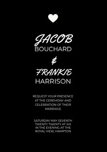 Black and White Wedding Invitation Wedding Invitation