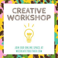 Multi Colored Border Creative Workshop Ad Instagram Square Border