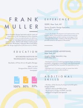 FRANK MULLER Currículum creativo