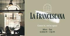 Beige La Francescana Restaurant Opening hours Facebook Post Cafe