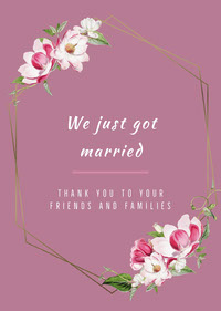 White and Pink Thank You Card Thank You Messages