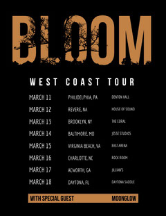 BLOOM Music Tour