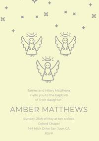 AMBER  MATTHEWS Convite de batizado