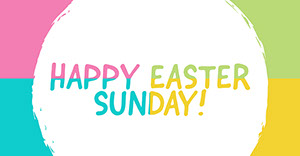White and Colorful Happy Easter Card Happy Easter Banner