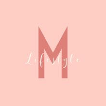 pink white name letter lifestyle logo square Logo