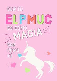 magical unicorn birthday cards  Tarjeta de cumpleaños
